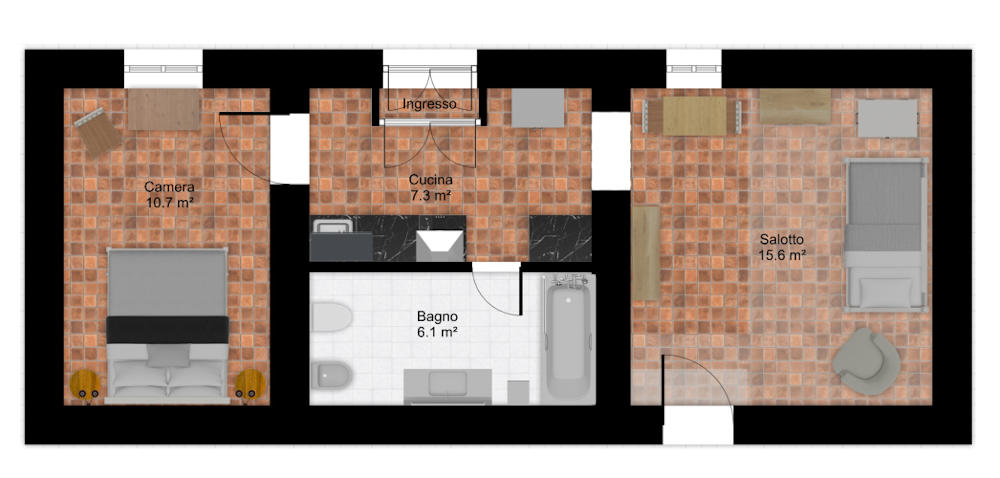Floor plan Stalle Florence